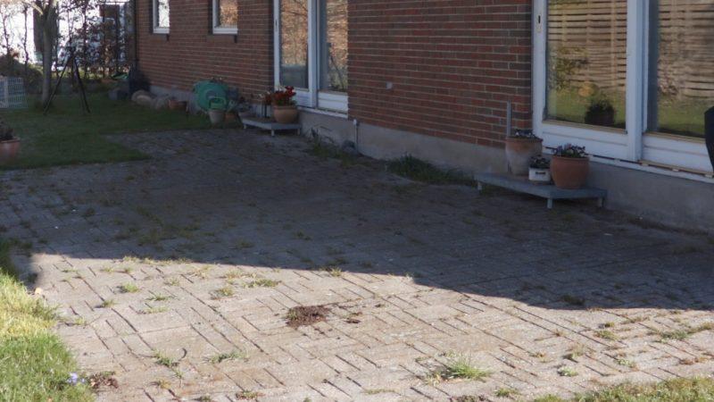 Terrasse før fliserens